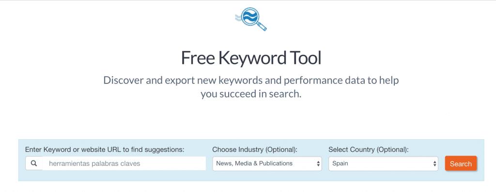 buscar palabras claves gratis