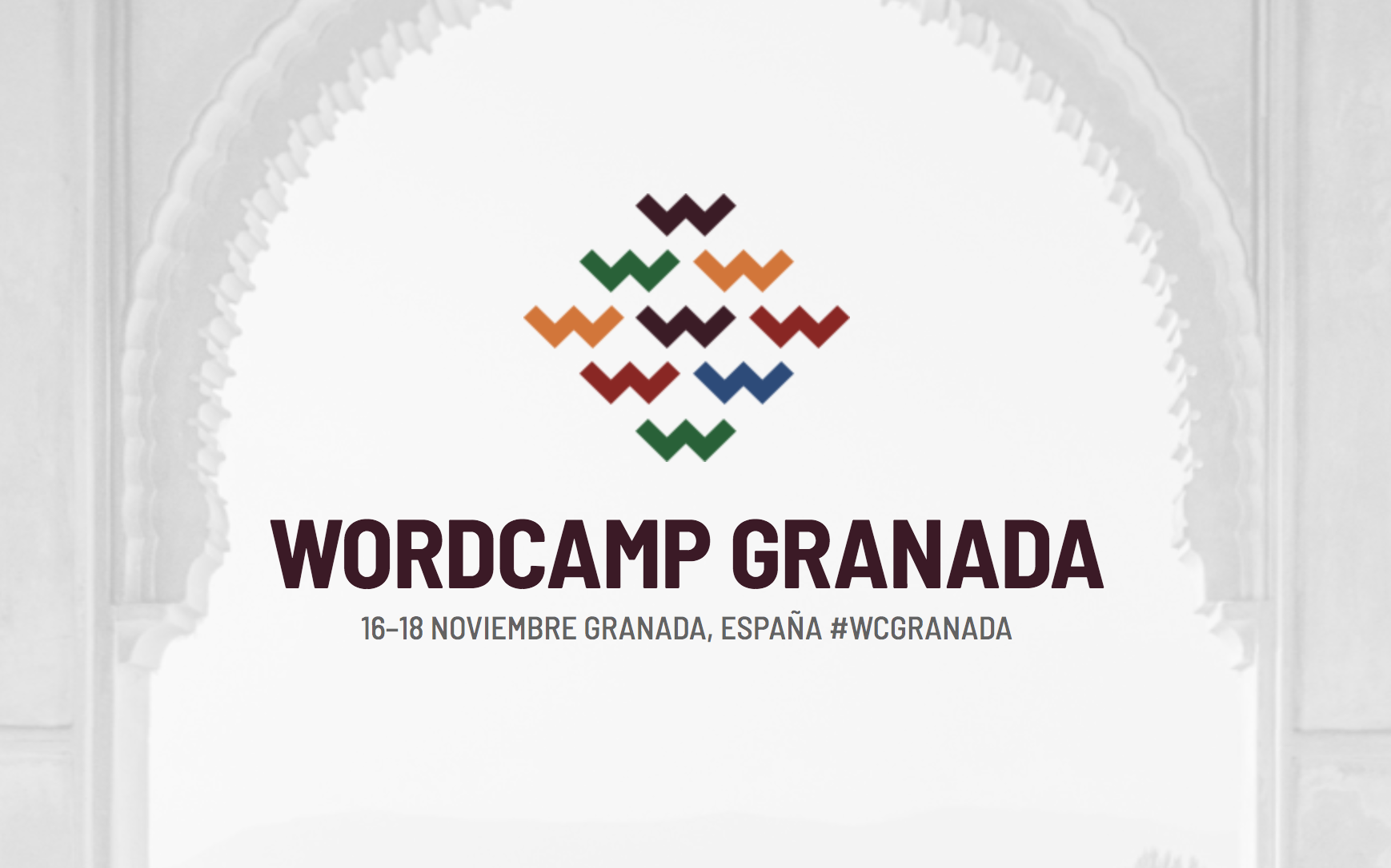 Cartel WordCamp Granada 2018